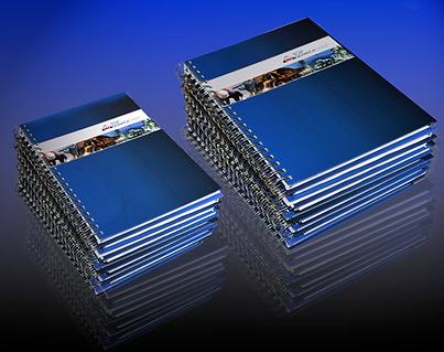 cuadernos personales personalizados en dos tamaños