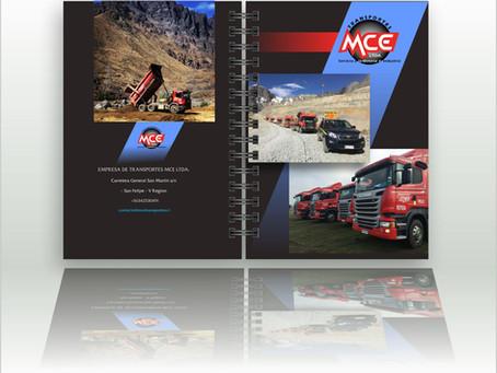 MCE lider en transporte de cargas complejas para la minería de Chile   50 cuadernos personalizados.