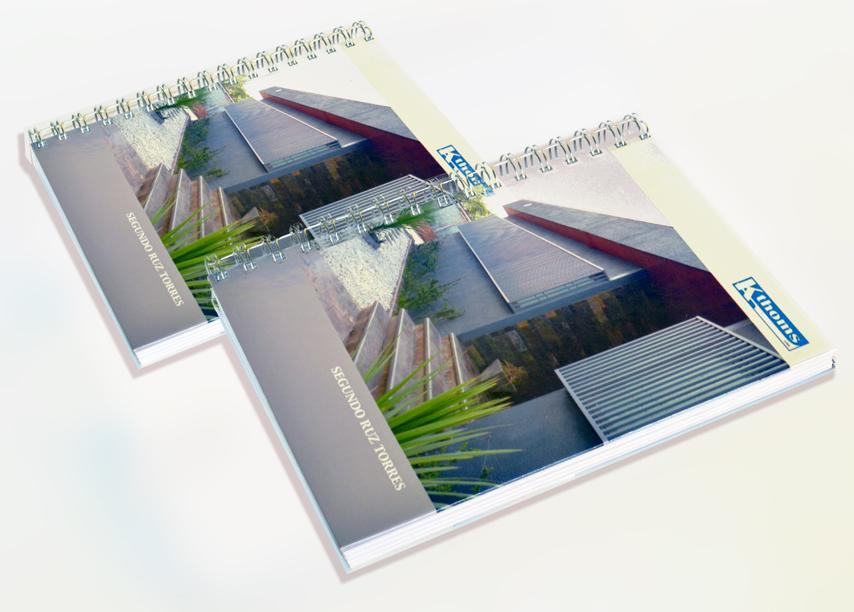 Dos tamaños agendas y cuadernos