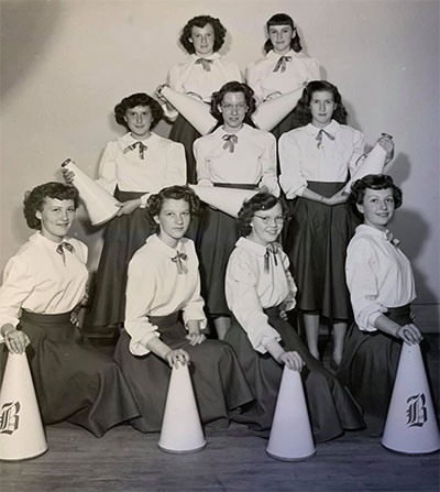 1948 to 1949 BHS Cheerleaders