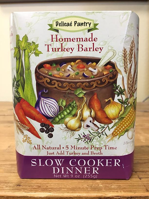 Homemade Turkey Barley Slow Cooker Soup