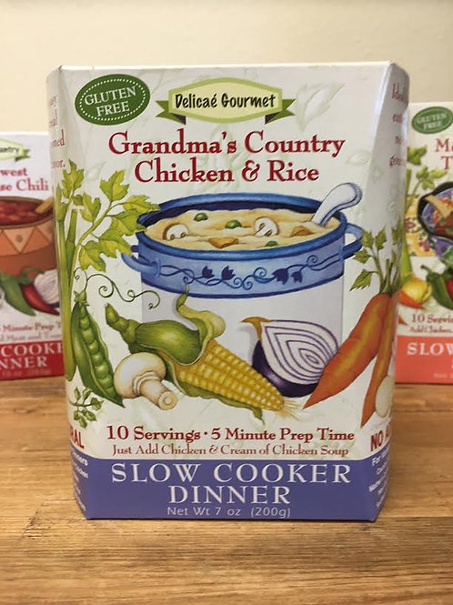 Grandma's Farmhouse Chicken Rice Slow Cooker Soup