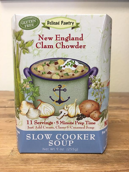 New England Clam Chowder Slow Cooker Soup