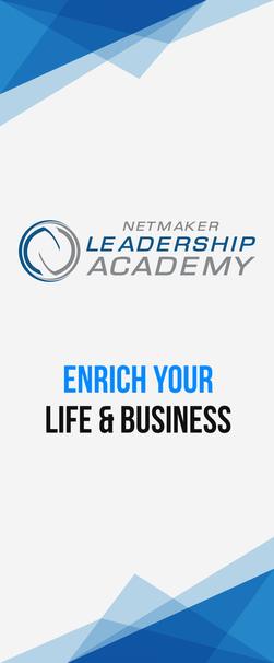 Netmaker Leadership Academy Retractable Banner