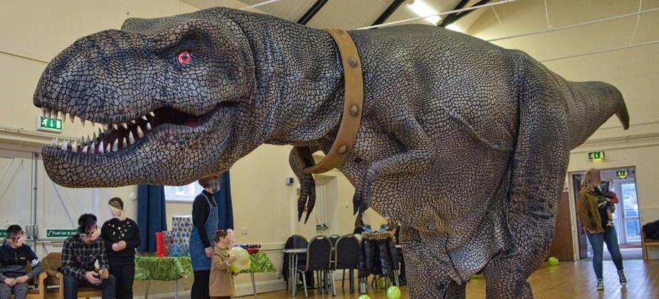 A visiting dinosaur!