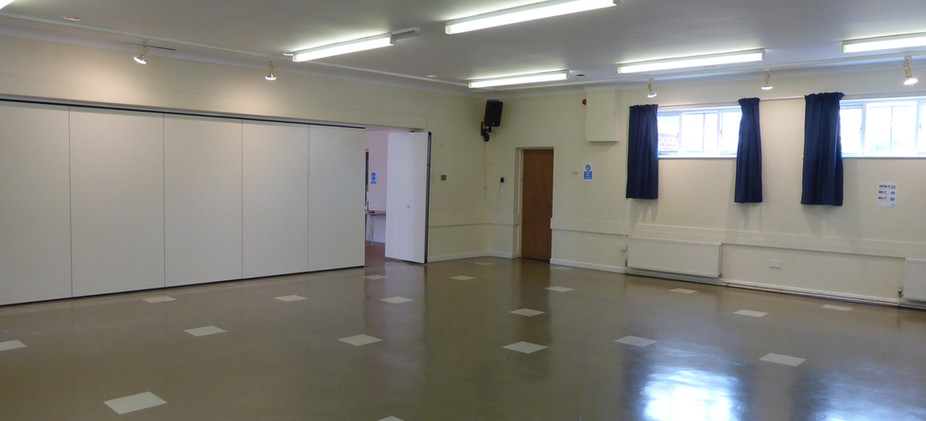 Inside the Fenton Room with the doors closed