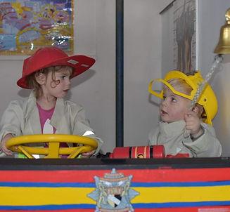 Chidren in fire station