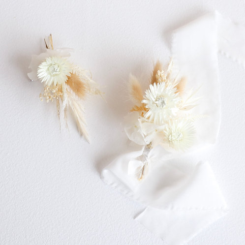 The Ethereal Boutonnière & Wrist Corsage