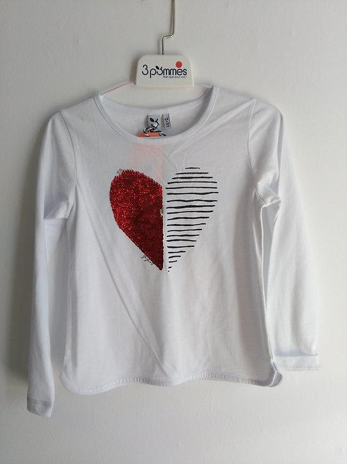 Tee-shirt coeur