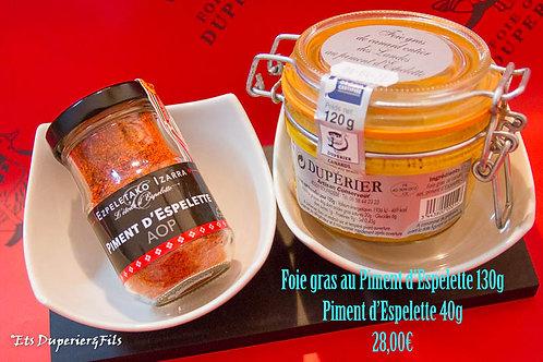 Lot Foie gras piment d'Espelette +Piment Espelette