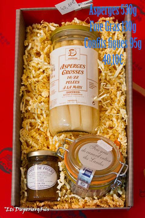 Coffret Asperges/Foie gras/Confit