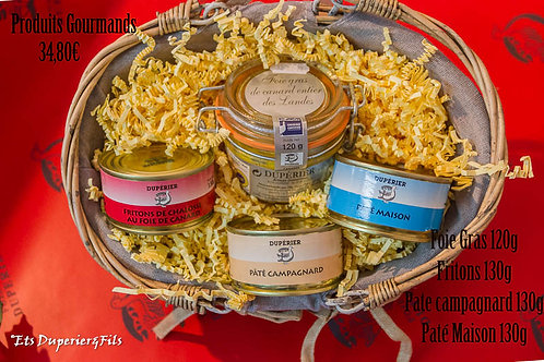 Corbeille Foie gras/Fritons/Pâté/
