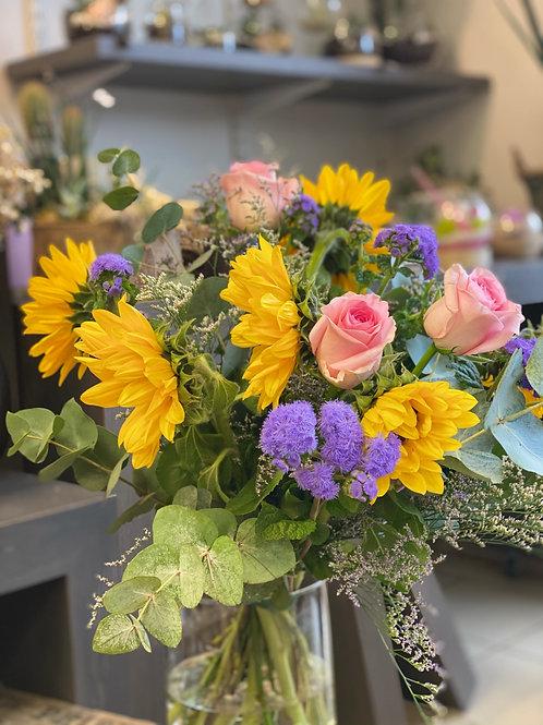 Bouquet Jaune/rose/violet