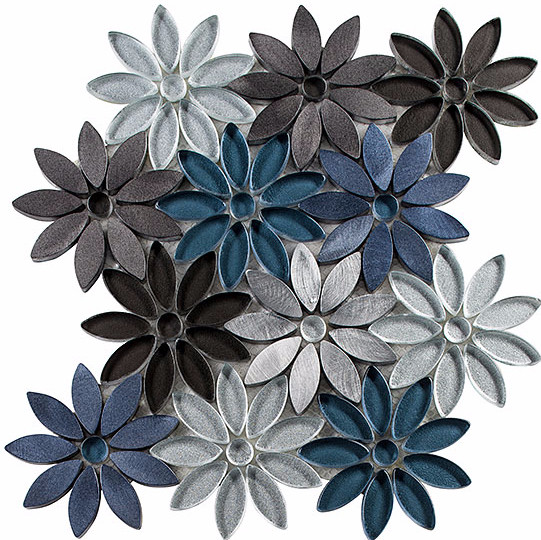 Not only is this gorgeous, it has a pop of blue, and it's just unique! This would be beautiful as an accent over the cook top, or even on a feature wall in a bathroom.