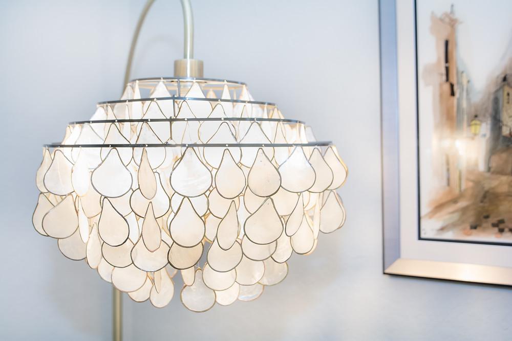 Capiz floor lamp from cb2.com