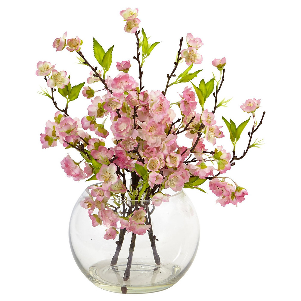 Faux cherry blossom bouquet pink from Target
