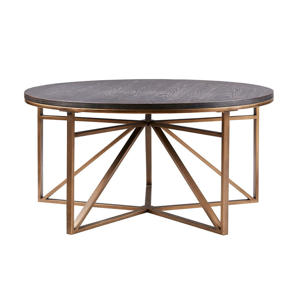 Wood and brass coffee table, Target