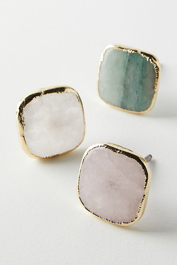 Feminine drawer knobs - I love the pastel tones and gold finish. LOVE!