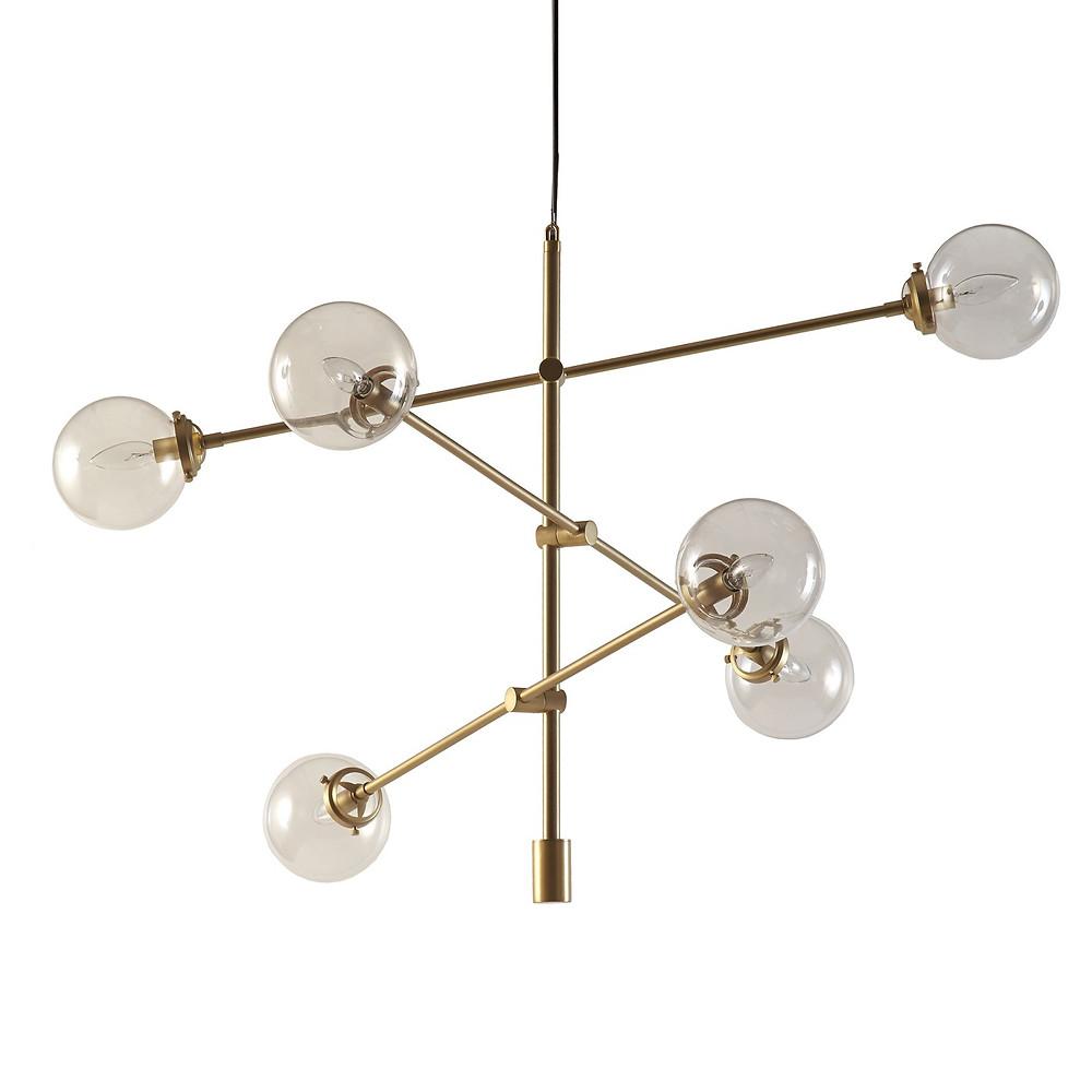 Modern Brass Mid Century Chandelier Target
