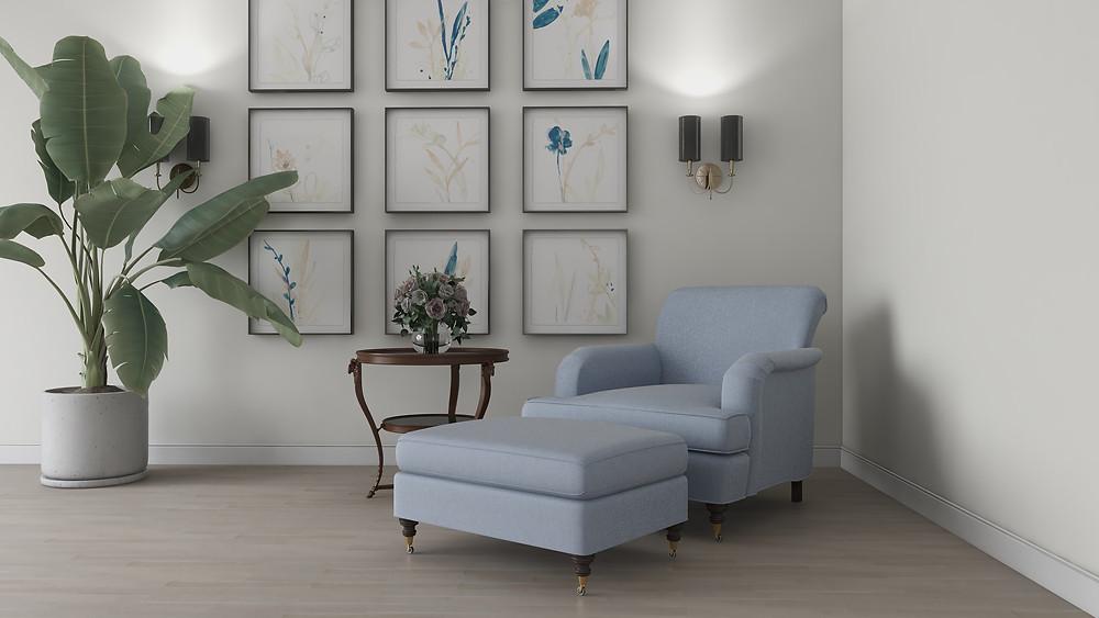Custom 3D furniture modeling