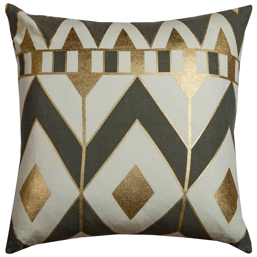 Gold, Black, and White geometric pillow, Target