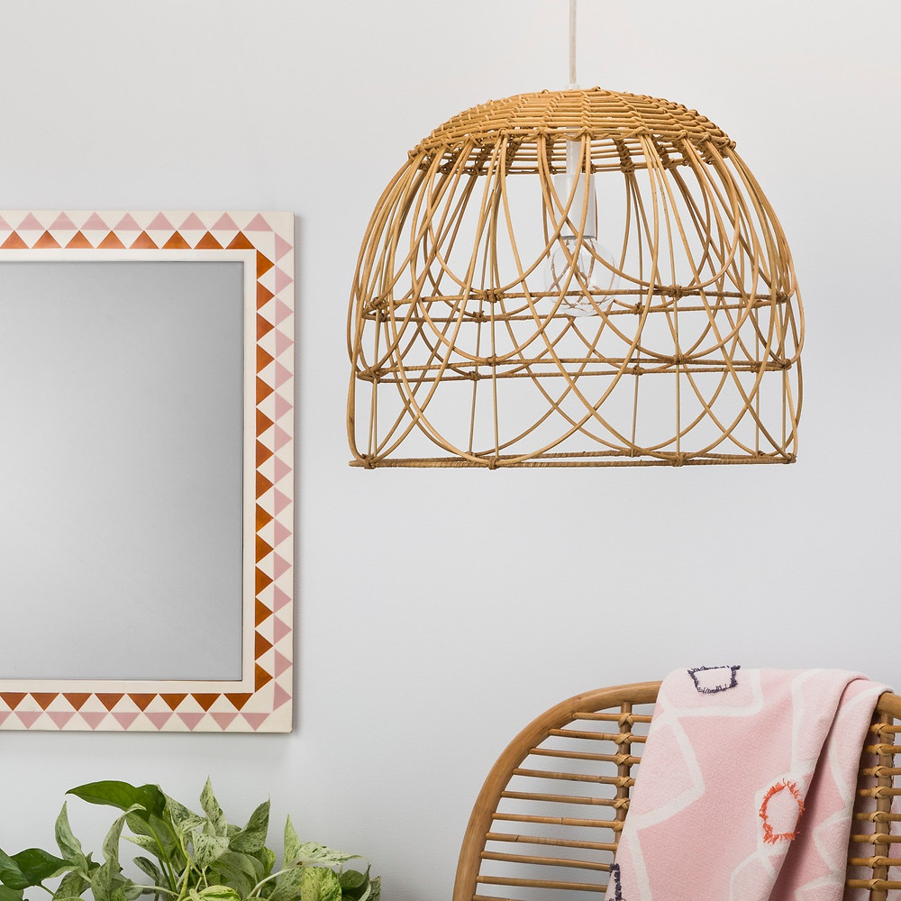 Bohemian,neutral, straw woven shade lamp, Target