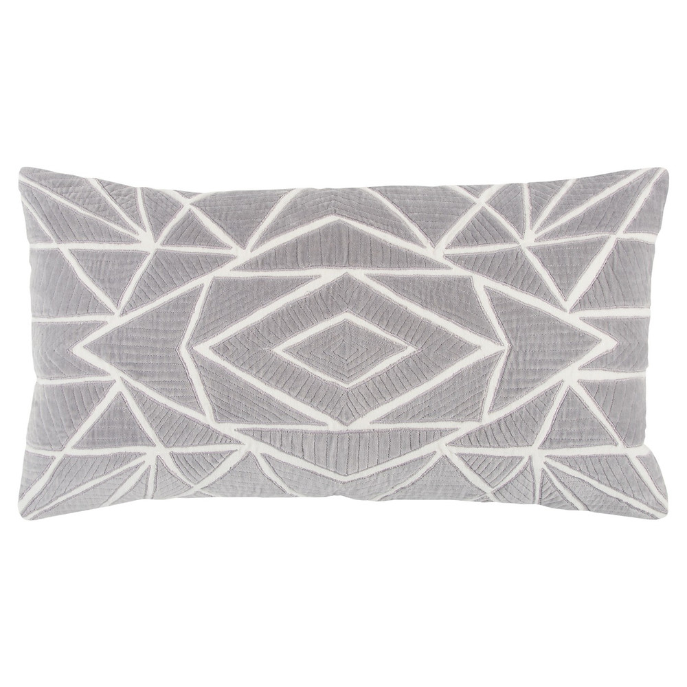 White and gray  bolster pillow, Target