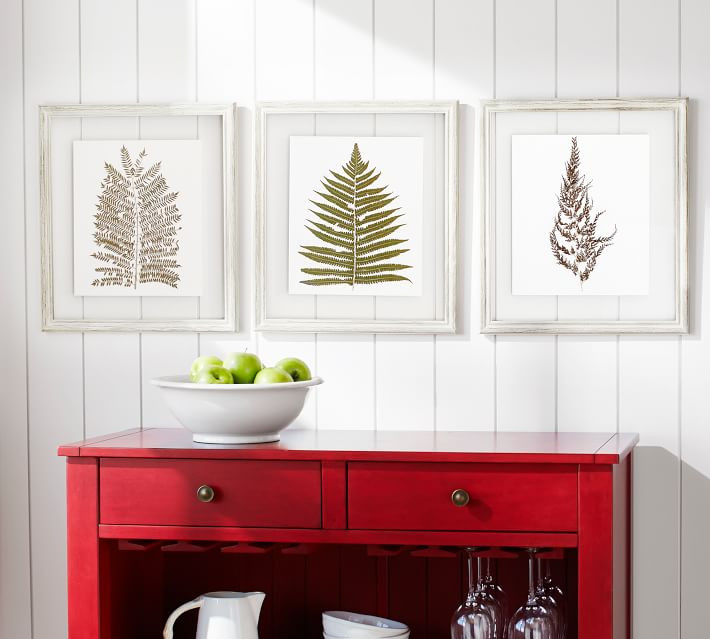 Fern wall art, set of three