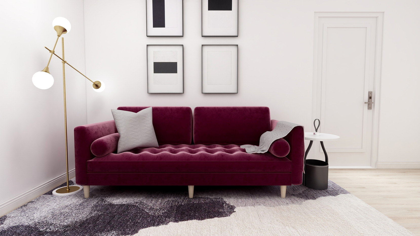 Sofa created in sketchup