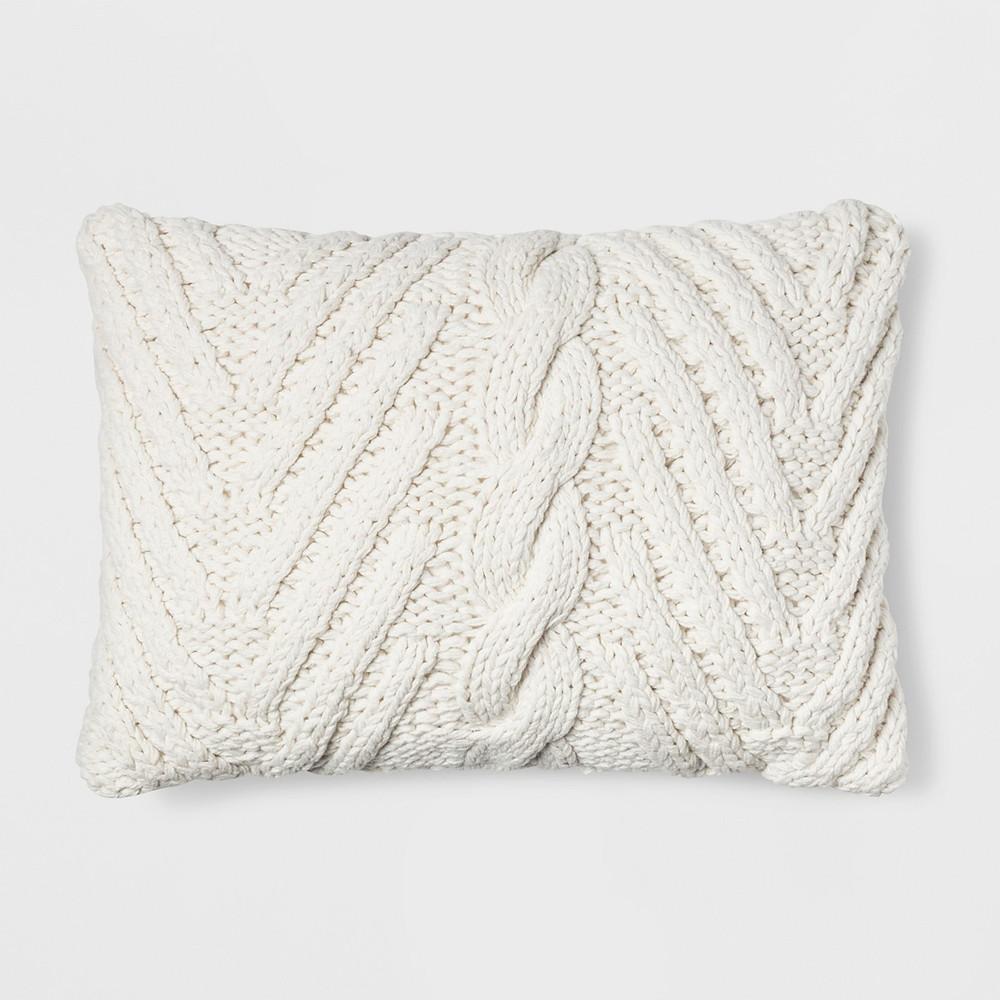 White cozy pillow, Target