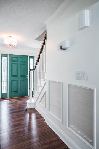 Hall and front door