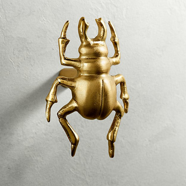 How about this beetle knob! Unique and cool.