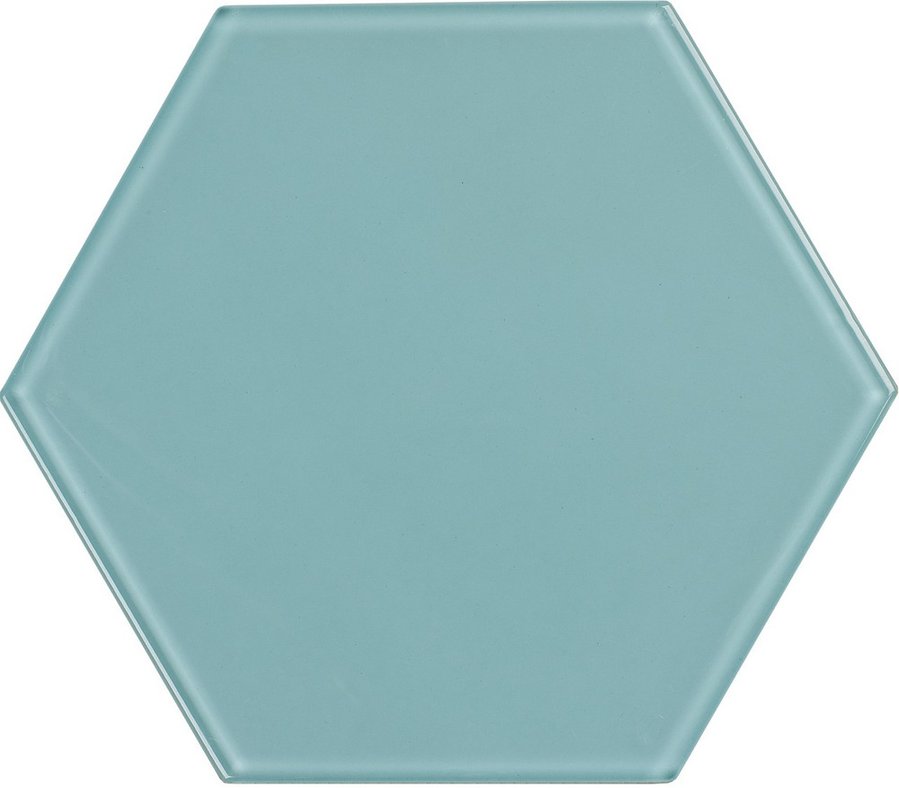 "Large, 8"" hex tile that would look stunning in a bathroom or kitchen! Use this as a fun pop of color in your space"