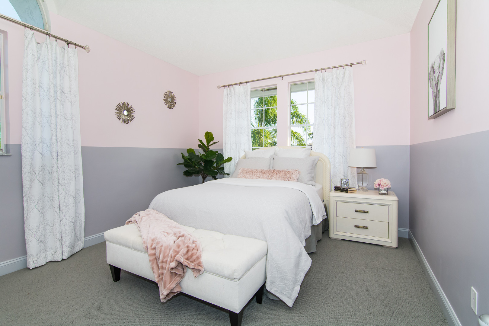 Pink and gray feminine, elegant, contemporary and modern