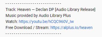 Audio Library Plus YouTube License Example