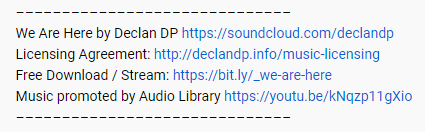 Audio Library YouTube License Example