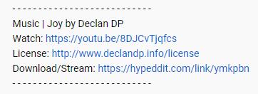 Declan DP YouTube License Example