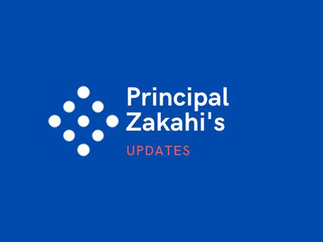 Principal's Zakahi Update 9/11/2020