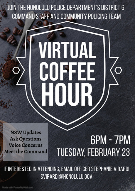 Virtual Coffee Hour with HPD