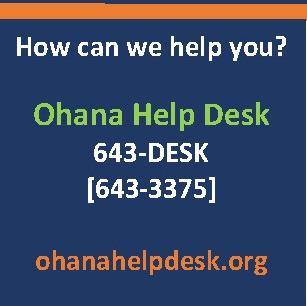 Ohana Help Desk modified hours during winter break