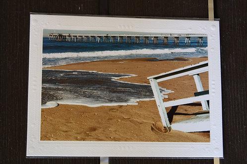 Hermosa Beach Pier/water on sand/ tower