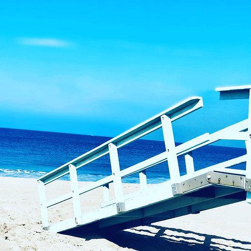 Hermosa Beach Blue ocean & end of tower