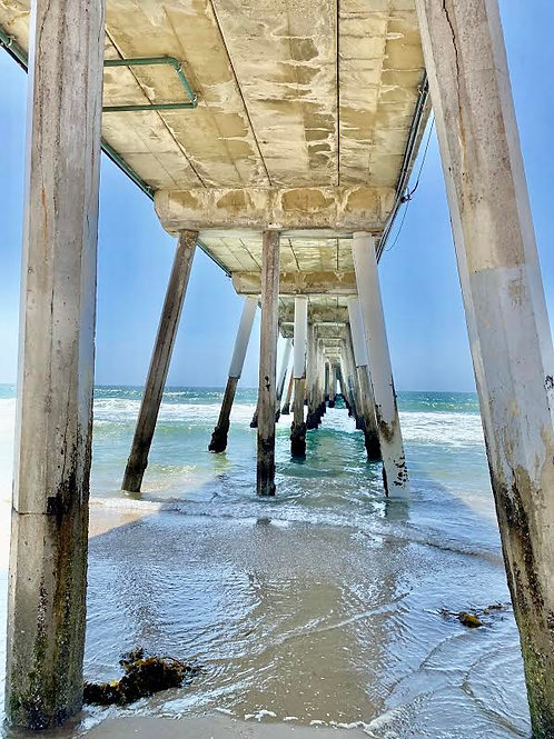 30 X 40 Hermosa Pier lighter pic one