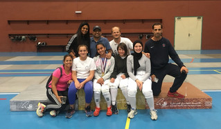Gold Medal for Aditri at Qatar championship U15 Epee women individual cmpetition