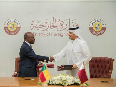 Signature de plusieurs accords entre le Bénin et le Qatar à travers les Ministre des affaires étrang