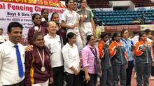 Gold Medal U-17 Individual and Silver Medal team for Aditri at India Nationals Fencing Championships