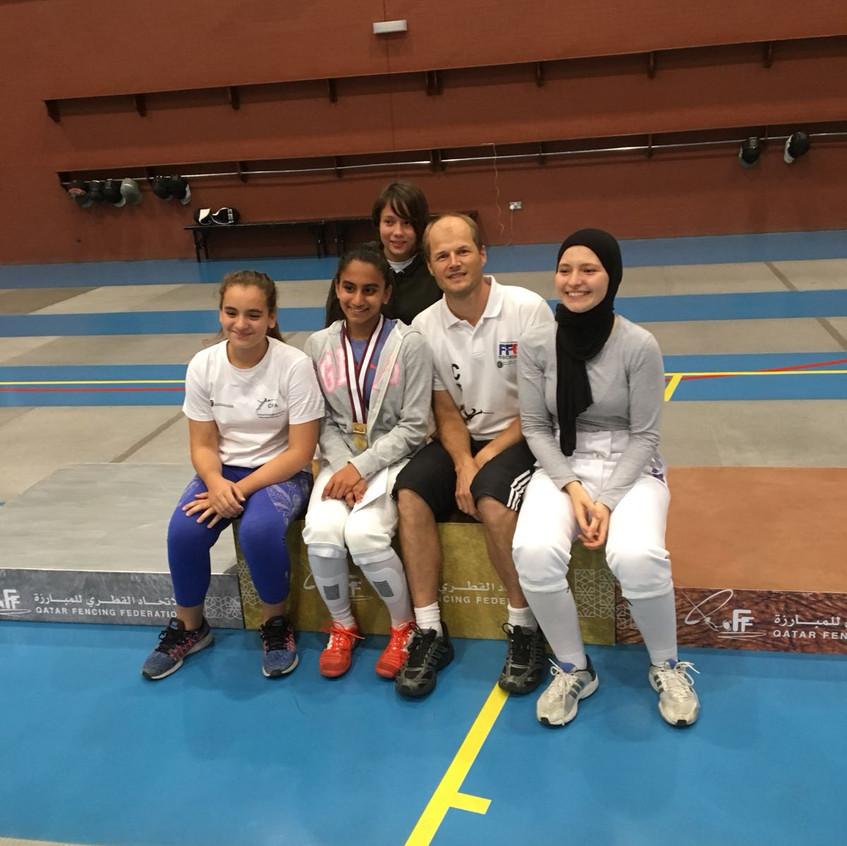 aditri win gold medal CFA