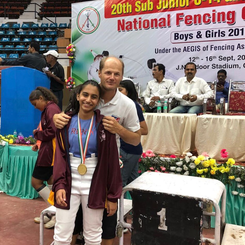 clement  india fencing championshi