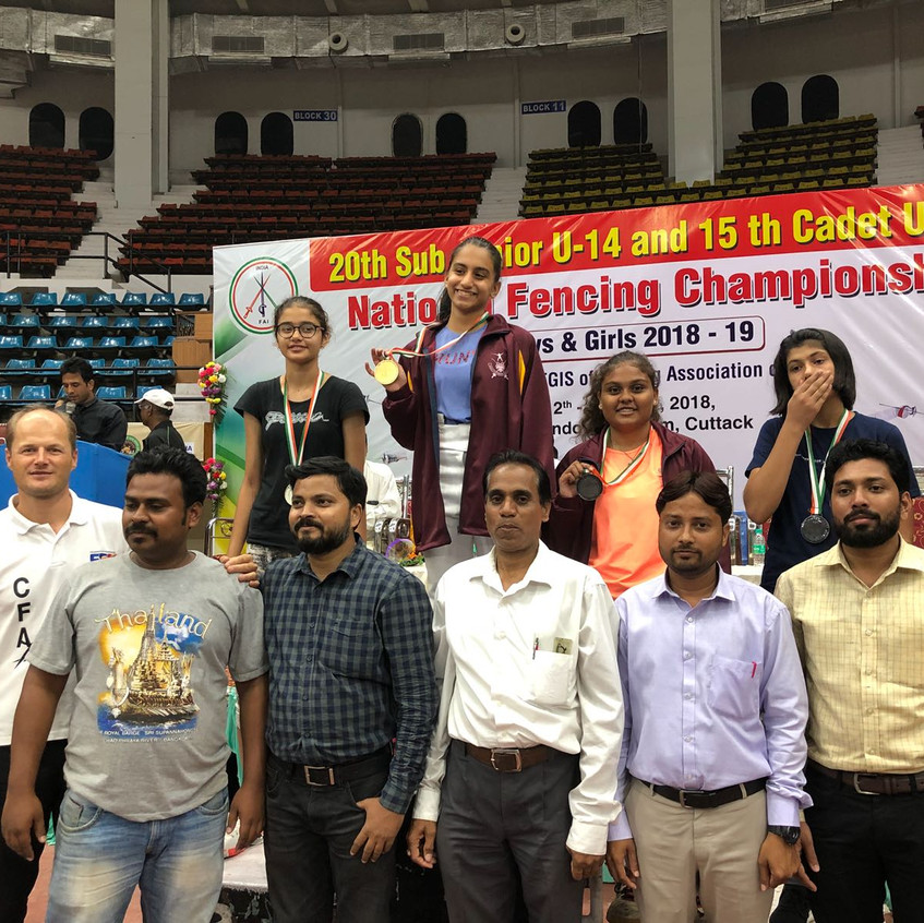 Gold medal india fencing championshi