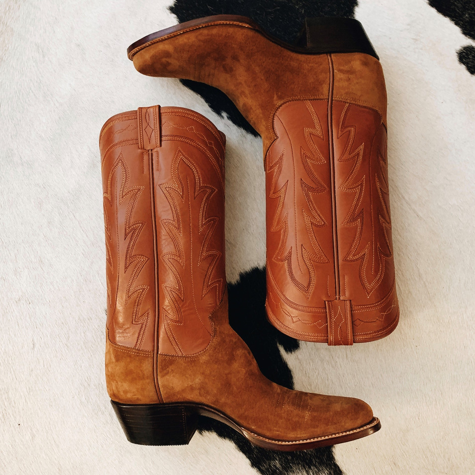 Custom Rough Out Cowboy Boot